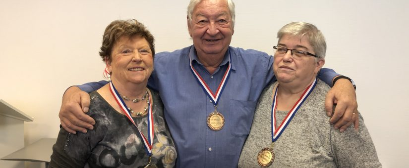 Bénévoles médaillés en 2020